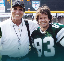 Vince Papale with Mark Wahlberg