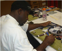 Brian Westbrook Eagles runningback signing autographs