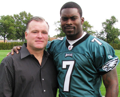 Terry with Michael vick
